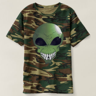 Green alien Men's Camouflage T-Shirt
