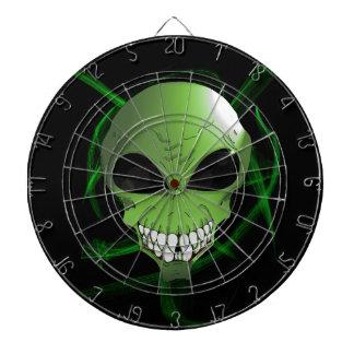 Green alien Metal Cage Dartboard