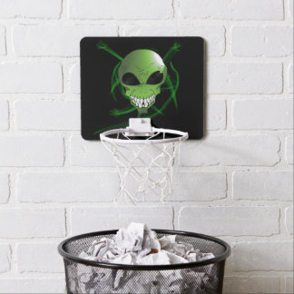 Green Alien Mini Basketball Goal Mini Basketball Hoop