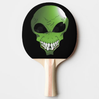 Green Alien Ping Pong Paddle