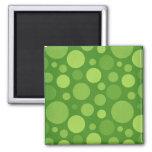 Green Alien Polka Bubble Dots Magnets