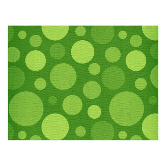 Green Alien Polka Bubble Dots Postcard