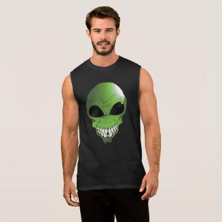 Green Alien Sleeveless t-shirt