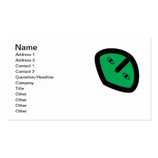 Green Alien style head Double-Sided Standard Business Cards (Pack Of 100)