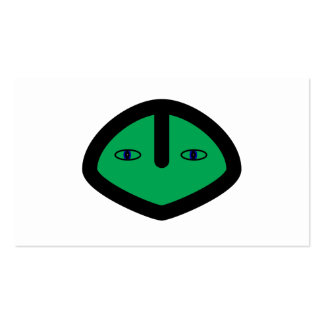 Green Alien style head Pack Of Standard Business Cards