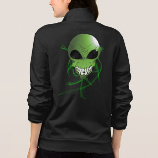 Green alien Women's Fleece Zip Jogger