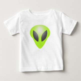 Green Aliens face kids Baby T-Shirt