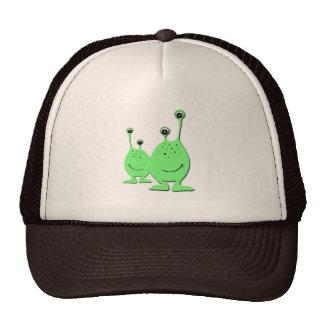 Green Aliens, UFO, Little Green Men Trucker Hats
