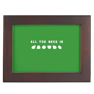 Green All You need Clouds Keepsake Boxes