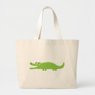 Green Alligator Large Tote Bag