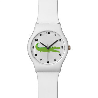 Green Alligator Numbered May28th Wrist Watch