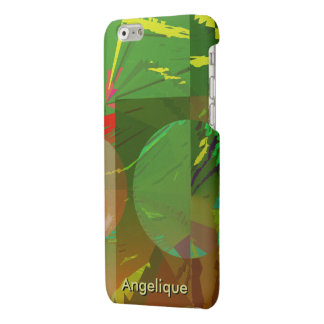 Green Amazon Abstract with Customizable Text iPhone 6 Plus Case