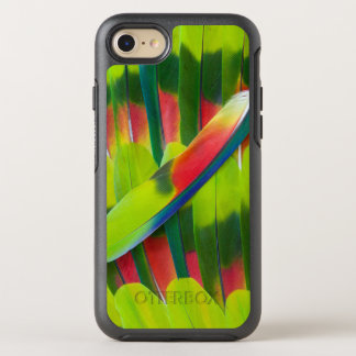 Green amazon parrot feathers OtterBox symmetry iPhone 7 case