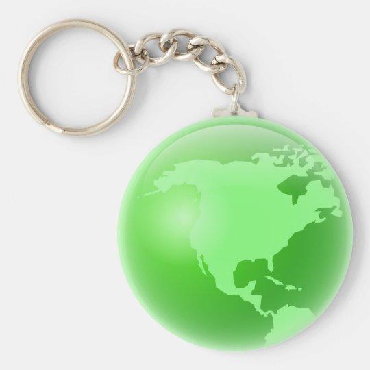Green America Basic Round Button Key Ring