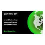 Green America Globe, Your Name Here, Business Card Template