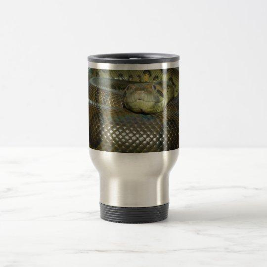 Green Anaconda Big Snake Travel Mug