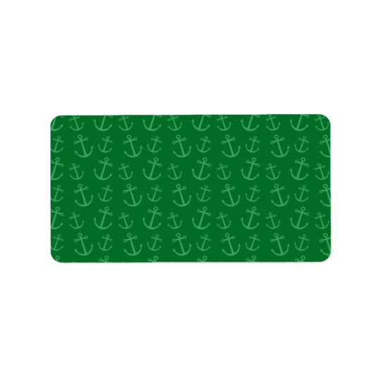 Green anchor pattern label