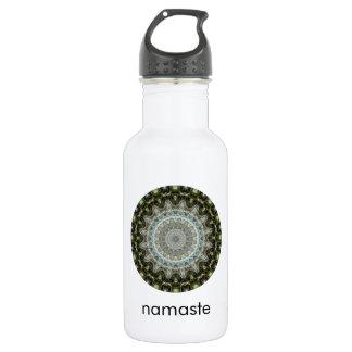 Green and Aqua Mandala Art Namaste 532 Ml Water Bottle