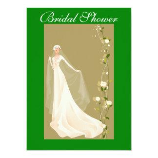 Green and Beautiful Bridal Shower Invitation