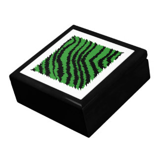 Green and black abstract jungle pattern. gift box