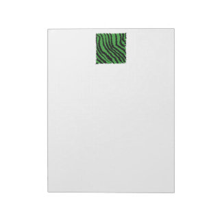 Green and black abstract jungle pattern. notepad