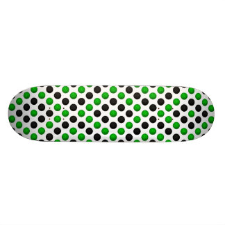 Green and Black Basketball Pattern Skateboard Deck