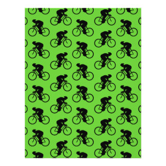 Green and Black Bicycle Pattern Custom Flyer