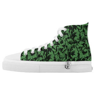 Green and Black Camouflage High Tops