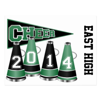 Green and Black Cheer 2014 Postcards