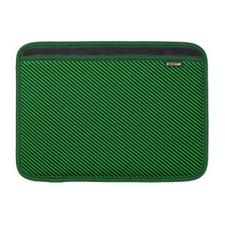 Green and Black Diagonal Stripes MacBook Air Sleeves