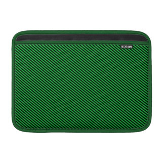 Green and Black Diagonal Stripes Sleeve For MacBook Air