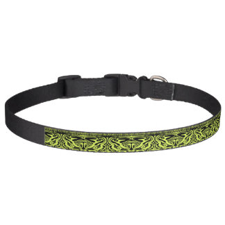 Green and Black Dog Collar