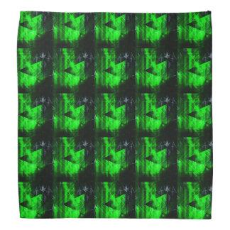 Green and Black Geometrical Abstract Pattern Bandanas