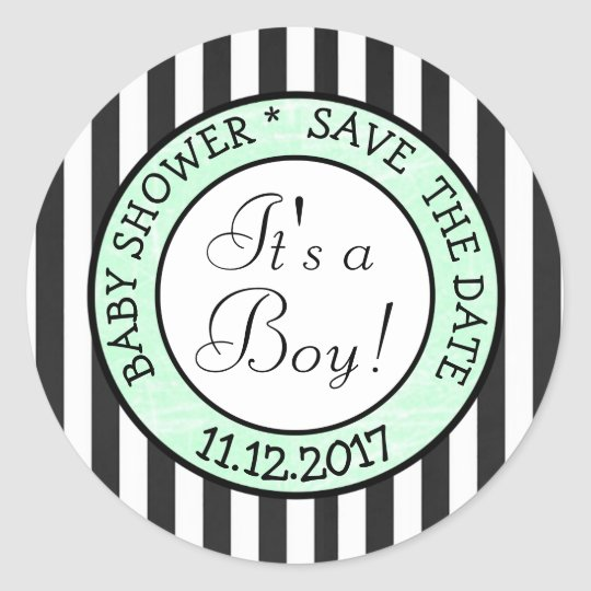"Green and Black, Its a Boy"" Baby Shower"