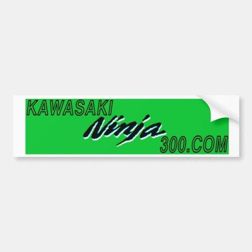 Green and Black KAWASAKININJA300.com bumper sticke Bumper Stickers