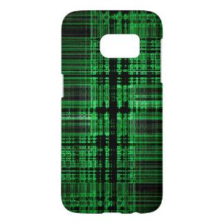 Green and black matrix pattern
