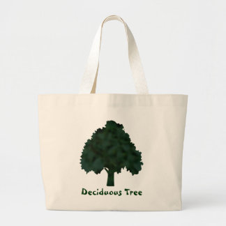 Green and Black Mottled Tree Silhouette Canvas Bag