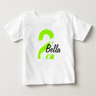 Green and Black Name and Age Tshirt