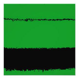green and black photo print