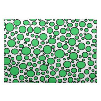 Green and Black Polka Dots Placemat