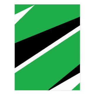 GREEN AND BLACK POSTCARD