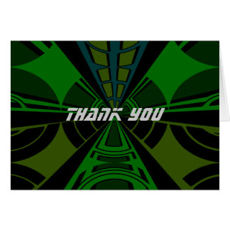Green and black rectangle design greeting card