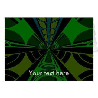 Green and black rectangle design note card