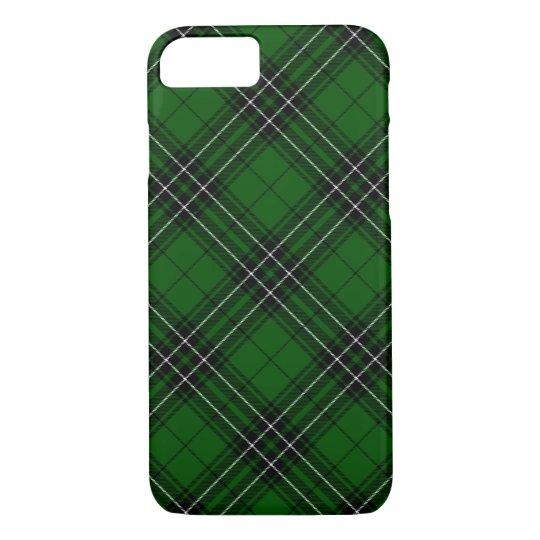 Green and Black Scottish Clan MacLean Tartan iPhone