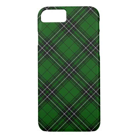 Green and Black Scottish Clan MacLean Tartan iPhone