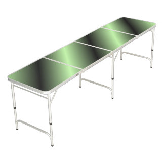 Green and Black Stripe Beer Pong Table