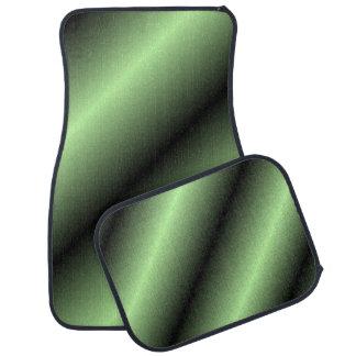 Green and Black Stripe Car Mat