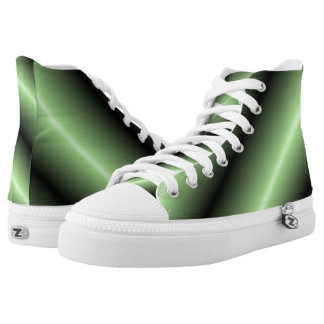 Green and Black Stripe High Tops