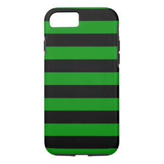 Green and Black Stripes Horizontal iPhone 7 Case