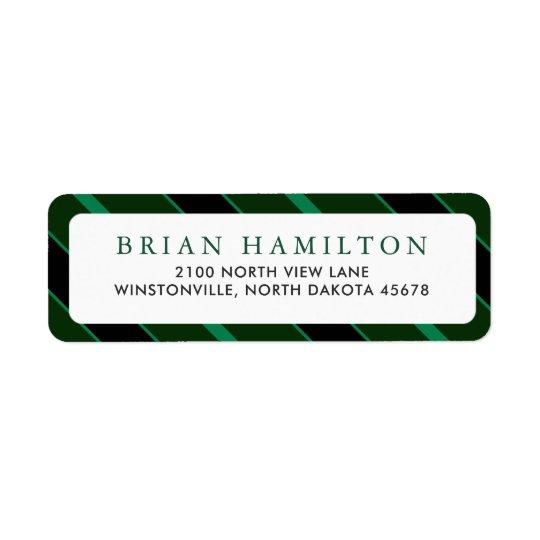 Green and Black Stripes | Return Address